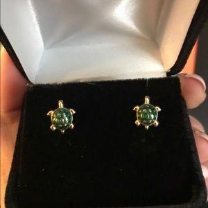 Jewelry - 14kt Gold Turtle Stud Earrings